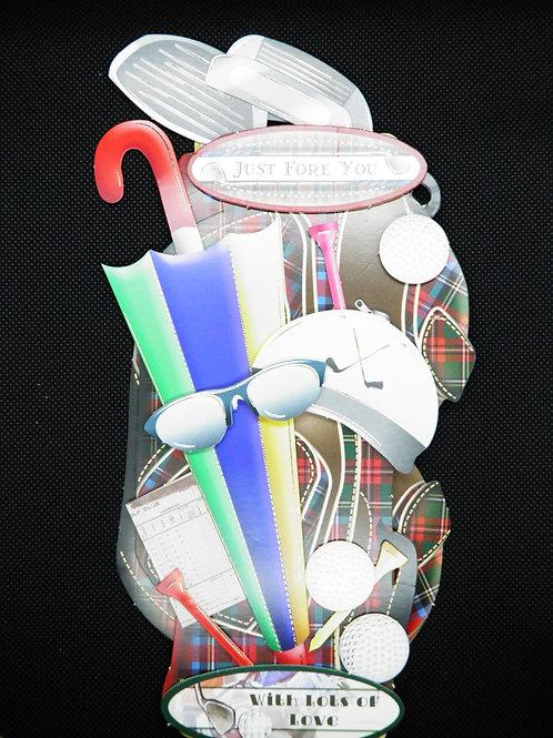 Birthday Card - Men's - Golf