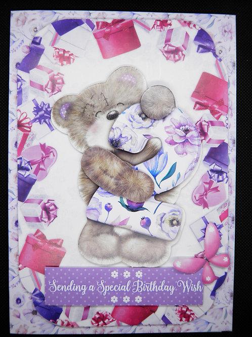 Birthday Card - Girl Age 2