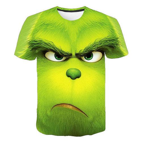 Green Grinch T-Shirt Top Fashion Pattern Men and Women Fashion Clothing T-Shirt