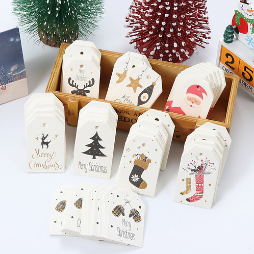Merry Christmas DIY Kraft Tags Labels Gift Wrapping Paper Hang Tags