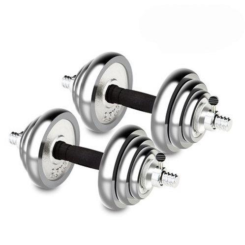 1pair 20kg Electroplated Dumbbell Men's Fitness Set