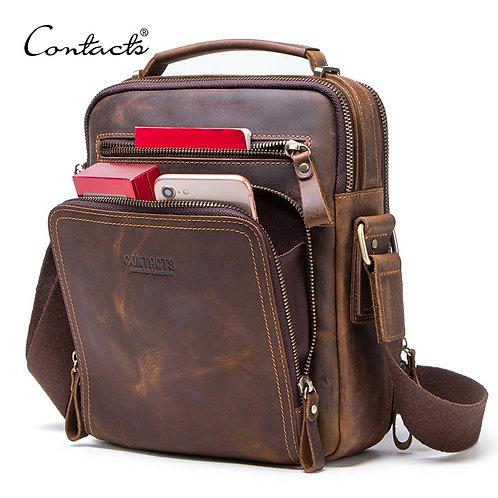 Leather Men's Shoulder Bag Vintage  Bags quality leather