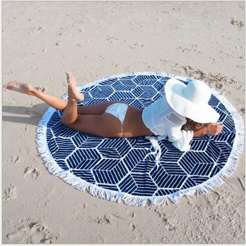 Tassel Beach Mandala Round Cover Up Beach Towel Beach Mat Shawl Sarong Cloak