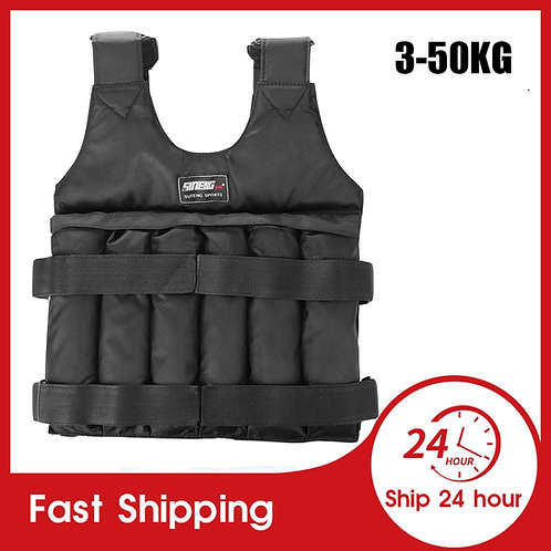 Weight Vest  Workout Fitness  Adjustable Waistcoat Sand Without Counterweight