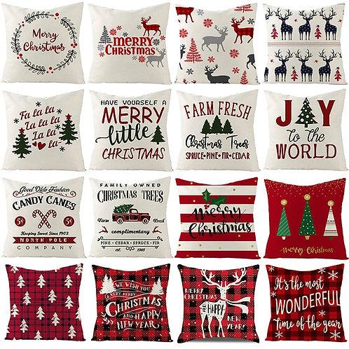 Christmas Cushion Cover 45*45 Pillowcase Sofa Cushions