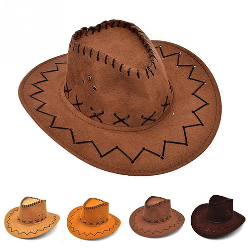 Cowboy  Cowgirl Children Hat Artificial Suede Wide Brim