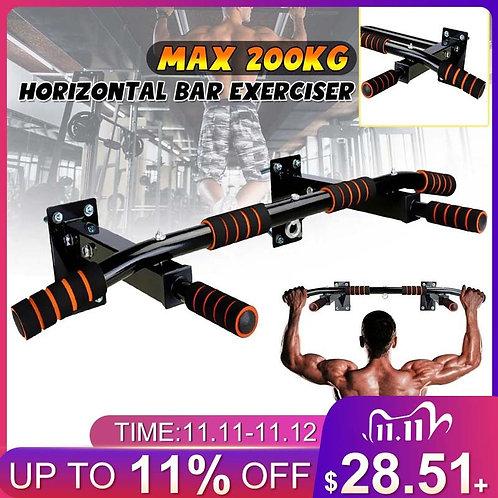 Wall Horizontal Bars Steel 200kg  Workout Chin Push Up Pull Up Training Bar