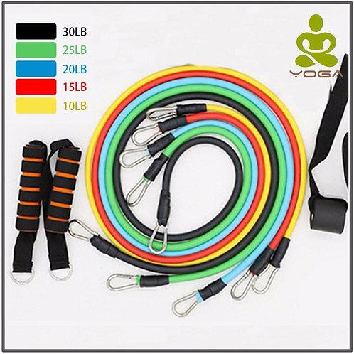 11 Pcs/Set Latex Resistance Bands Crossfit Training Exercise Yoga Pull Rope,