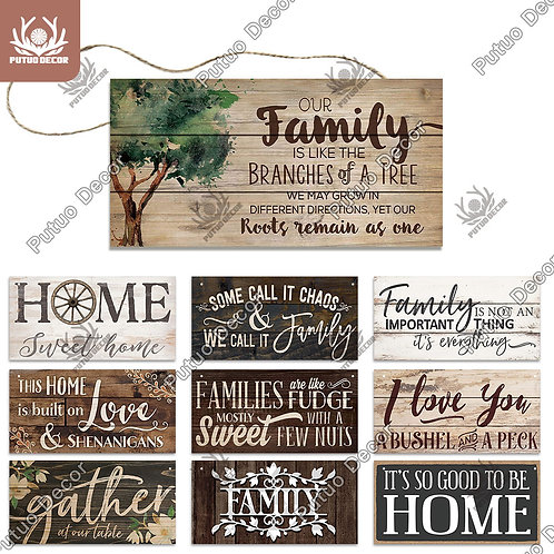 Home Wooden Signs Family Wood Wall Plaque Wood Art Home Décor