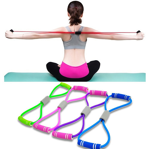 Hot Yoga Gum Fitness Resistance 8 Word Chest Expander Rope Workout Muscle
