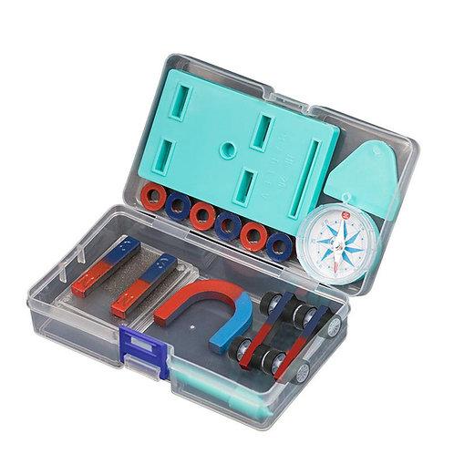 Children Science Bar Ring Horseshoe Compass Magnet Car Kit Experiment