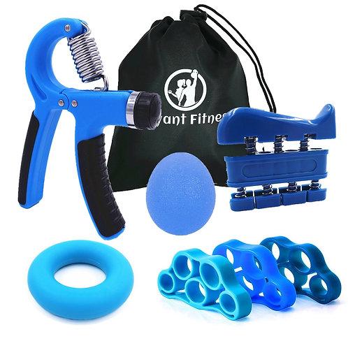 Hand Grip Workout Kit Adjustable Hand Gripper Ring Finger Exerciser Band