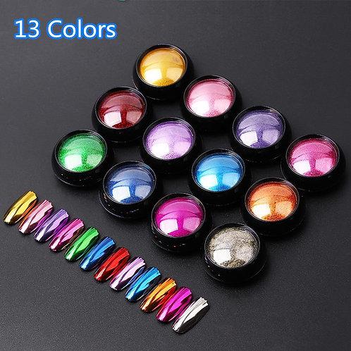 Nail Art Glitter Dipping Powder Chrome Mirror Glitter Pigment Powder for Nails