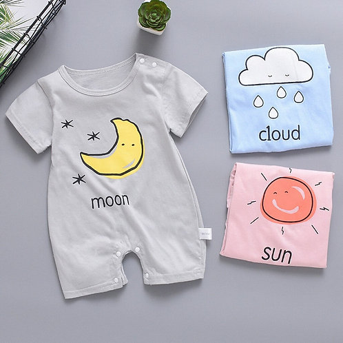 Baby Clothes Short Sleeve  Boy Girl Jumpsuit