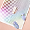 Thumbnail: 1 Piece Rose Gold Silver 3D Nail Sticker Curve Stripe Lines Nails Stickers