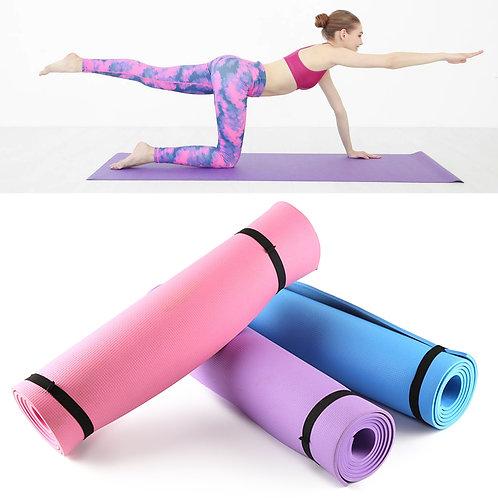 3-6mm Thick  Foam Yoga Mat Non Slip  Exercise Fitness Mat 68X24 Inch Folding
