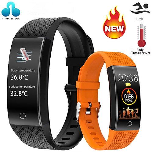 QW18T Smart Watch With Body Temperature Fitness Tracker Bracelet Waterproof