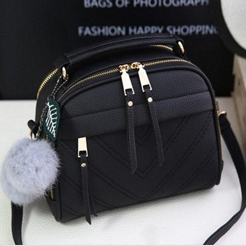 Women Inclined Shoulder  Leather Handbag