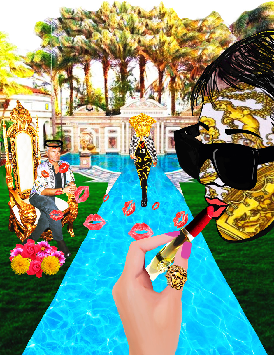 Gianni Versace Collage
