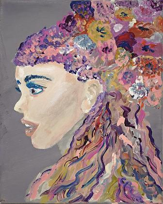 Jeune Fille De Fleurs