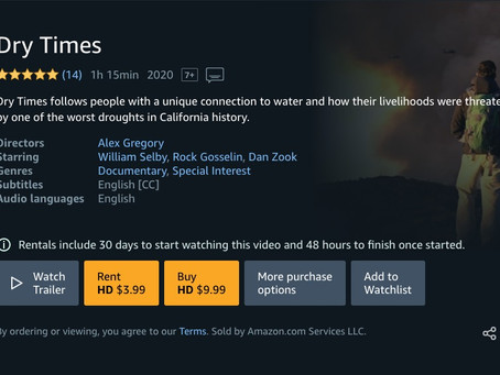 Dry Times - Climate Documentary available on iTunes, Amazon Prime, and Google Play