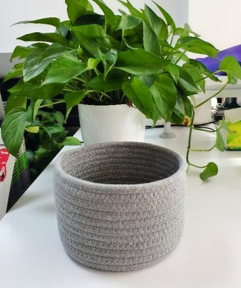 Cotton Rope Storage Basket with Lid