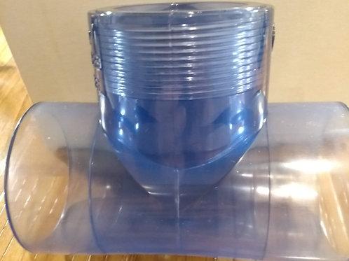 "PLA-85150 1.5"" Clear Plastic Tee"