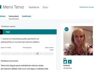 Vaalikonevastauksia - YLE, Helsingin Sanomat ja Kaleva