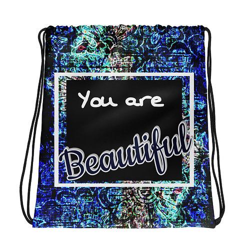 You are Beautiful Drawstring bag