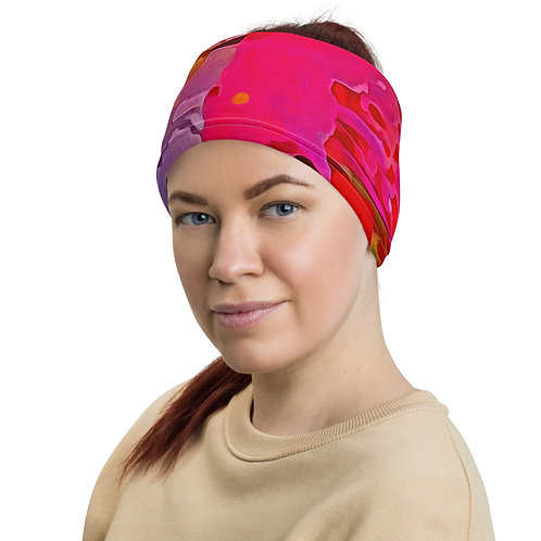 Rachel's Rose Bouquet Neck Gaiter, headband, wristband