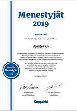 Menestyjät_sertifikaatti_2019_-_Vemitek_