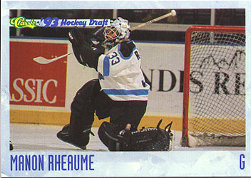Trading card of Manon Rhéaume