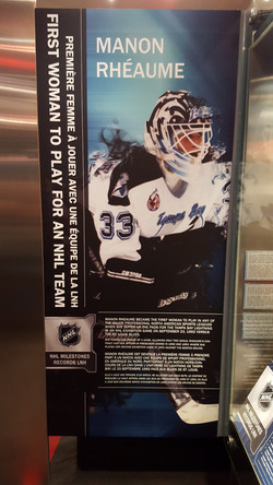Manon's picture at the Hall of Fame