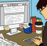[Auth]_Benson_writing_his_paper_FLATCOLO