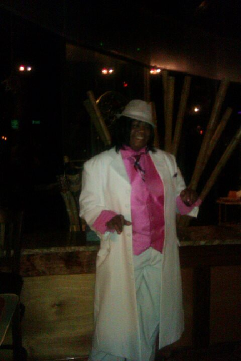 Pimpin in pink and white
