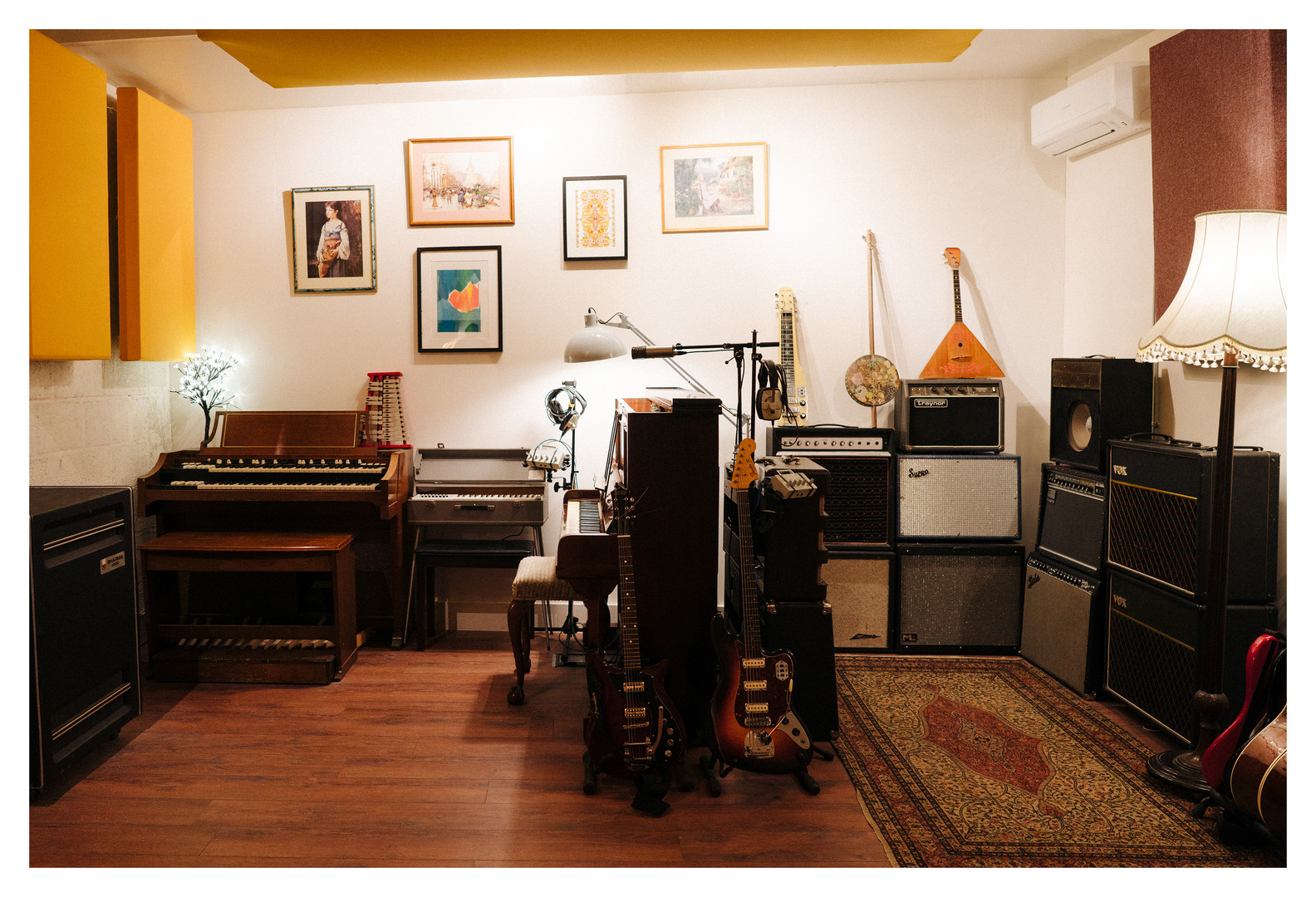 Piano/Amp corner