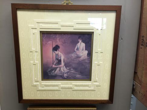 Asian art framed