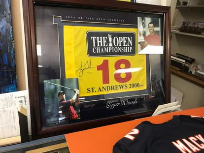 golf flag framed