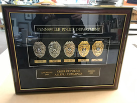 police badges framed