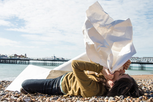 Drawing to performance, Artistic Residence, Brighton (UK). 2018. Photo by Manja Williams.