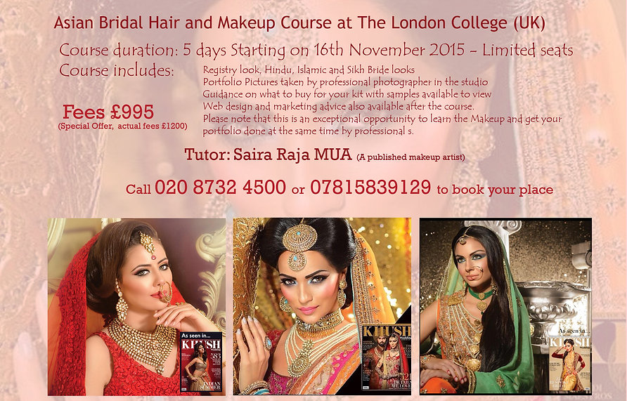 Intensive Asian Hair and Makeup Course at reduced price in London