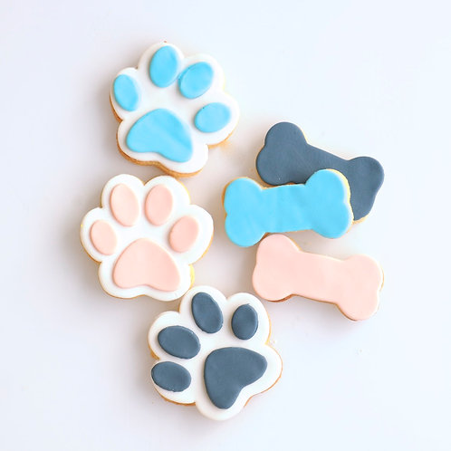 Paw and Bone Cookies - Set of 2