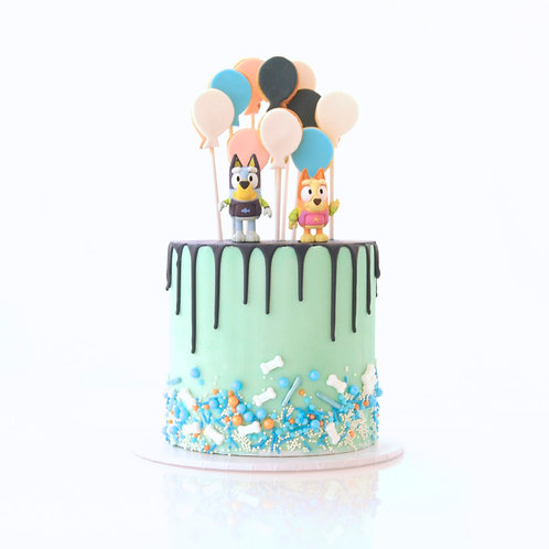 Commerical Character Drip Cake