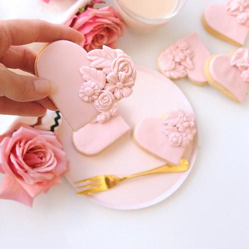 Bas Relief Floral Cookies