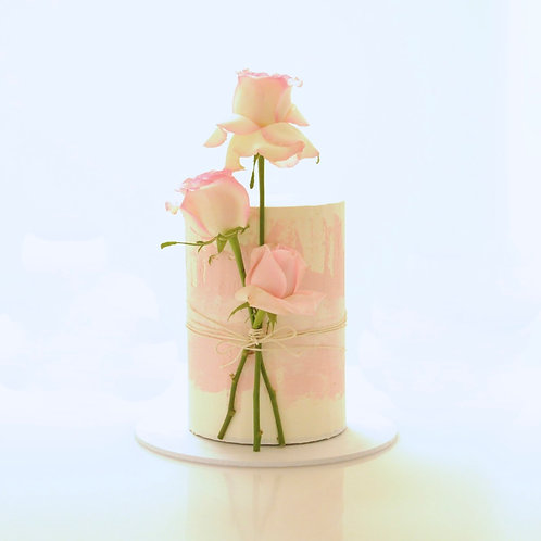 Watercolour Front Floral Cake