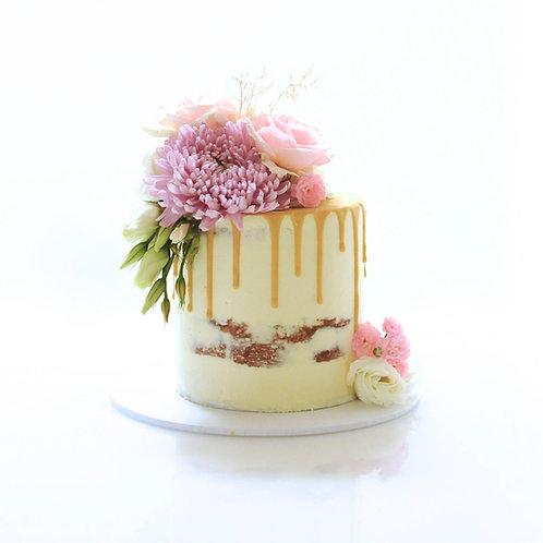 Regular Height Semi Naked Drip Cake