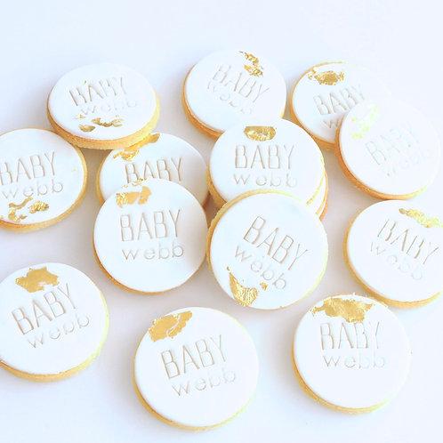 Custom Text Baby Cookies