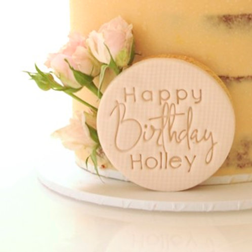 Custom Happy Birthday Cookie