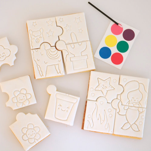 Paint Your Own Cookie Puzzle Kit