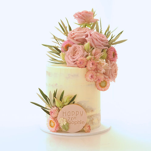 Semi Naked with Blooms and Feature Cookie